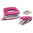 Schreibtischset Mini Locher und Heftgerät NeXXt WOW pink metallic Leitz 5561-20-23 Produktbild