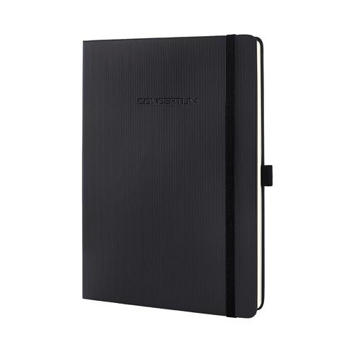 Notizbuch CONCEPTUM Softwave kariert Tablet-Format 180x240mm 80Seiten schwarz Hardcover Sigel CO117 Produktbild