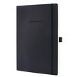 Notizbuch CONCEPTUM Softwave kariert A4 187x270mm 194Seiten black Softcover Sigel CO310 Produktbild