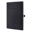 Notizbuch CONCEPTUM Softwave liniert A4 187x270mm 194Seiten black Softcover Sigel CO311 Produktbild