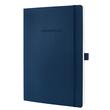 Notizbuch CONCEPTUM Softwave kariert A4 187x270mm 194Seiten midnight blue Softcover Sigel CO316 Produktbild