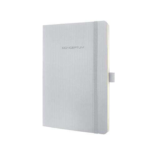 Notizbuch CONCEPTUM Softwave kariert A5 135x210mm 194Seiten light grey Softcover Sigel CO322 Produktbild
