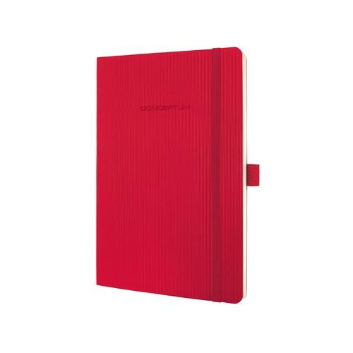 Notizbuch CONCEPTUM Softwave liniert A5 135x210mm 194Seiten red Softcover Sigel CO325 Produktbild