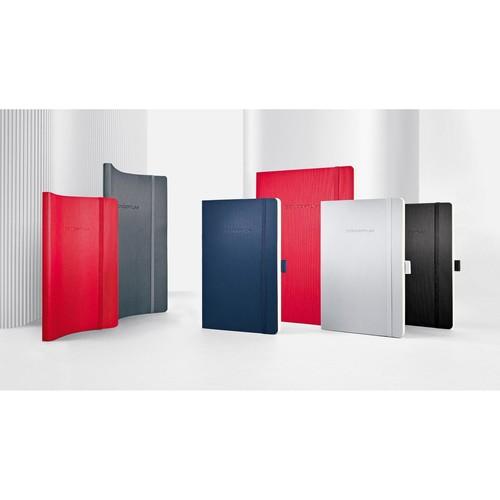 Notizbuch CONCEPTUM Softwave liniert A5 135x210mm 194Seiten red Softcover Sigel CO325 Produktbild Additional View 7 L