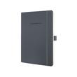 Notizbuch CONCEPTUM Softwave liniert A5 135x210mm 194Seiten dark grey Softcover Sigel CO329 Produktbild