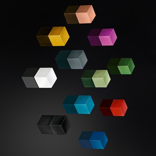 SuperDym-Magnet-Cube C5 artverum 10x10x10mm titangrau stark Sigel GL728 (PACK=6 STÜCK) Produktbild Additional View 4 L