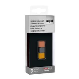 SuperDym-Magnet-Cube C5 artverum 11x11x11mm titangrau/kupfer/gold stark Sigel GL724 (PACK=3 STÜCK) Produktbild