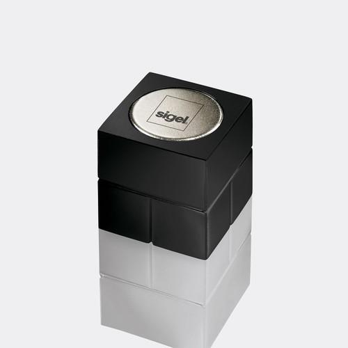 SuperDym-Magnet-Würfel C20 artverum Cube-Design 20x20x20mm schwarz super stark Sigel GL722 (PACK=2 STÜCK) Produktbild Additional View 1 L