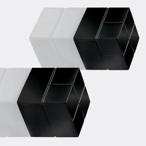 SuperDym-Magnet-Würfel C20 artverum Cube-Design 20x20x20mm schwarz super stark Sigel GL722 (PACK=2 STÜCK) Produktbild Additional View 3 L