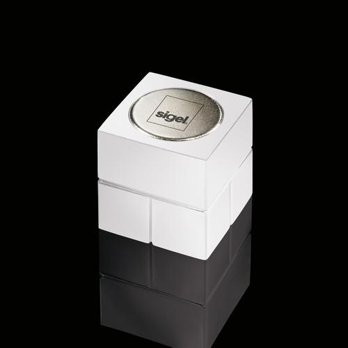 SuperDym-Magnet-Würfel C20 artverum Cube-Design 20x20x20mm weiß super stark Sigel GL723 (PACK=2 STÜCK) Produktbild Additional View 1 L