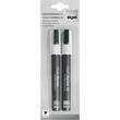 Kreidemarker 50 artverum 1-5mm Keilspitze weiß abwischbar und fluoreszierend Sigel GL184 (PACK=2 STÜCK) Produktbild