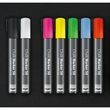 Kreidemarker 50 artverum 1-5mm Keilspitze weiß abwischbar und fluoreszierend Sigel GL184 (PACK=2 STÜCK) Produktbild Additional View 4 S