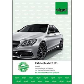 Fahrtenbuch für Pkw A5 hoch 32Blatt geheftet Sigel FA513 Produktbild