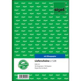 Lieferscheinbuch A5 hoch 2x50Blatt mit Blaupapier Sigel LI528 Produktbild
