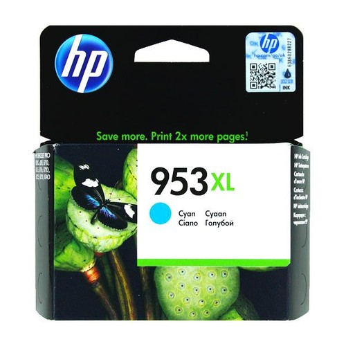 Tintenpatrone 953XL für HP OfficeJet Pro 8210/8700 20ml cyan HP F6U16AE Produktbild Front View L