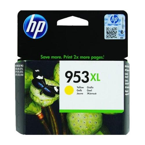 Tintenpatrone 953XL für HP OfficeJet Pro 8210/8700 20ml yellow HP F6U18AE Produktbild Front View L