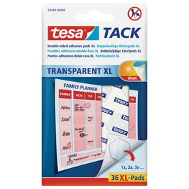 Klebepads TACK XL doppelseitig klebend wiederablösbar Tesa 59404-00000-00 (PACK=36 STÜCK) Produktbild