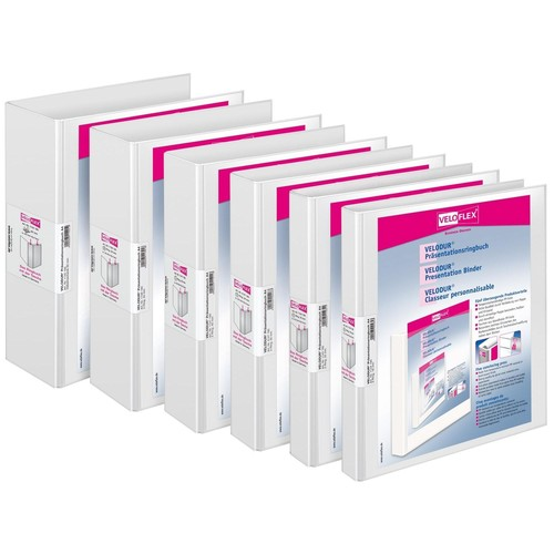 Präsentations-Ordner Velodur mit 2 Sichttaschen A4 Überbreite 85mm weiß PP Veloflex 1142190 Produktbild Additional View 1 L