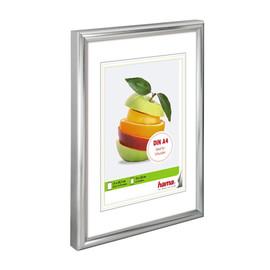 Bilderrahmen Sevilla mit Kunststoff- rahmen Polystyrol 21x29,7cm silber matt Hama 00061776 Produktbild