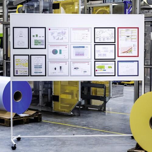Magnetrahmen DURAFRAME A3 silber magnetisch Durable 4868-23 (PACK=5 STÜCK) Produktbild Additional View 3 L