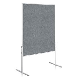 Moderationswand ECONOMY starr 150x120cm grau filzbespannt Legamaster 7-206000 Produktbild