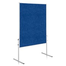 Moderationswand ECONOMY starr 150x120cm blau filzbespannt Legamaster 7-206100 Produktbild