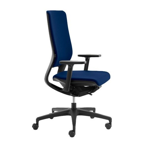 Drehstuhl PREMIUM Mera98 mit Armlehnen ohne Kopfstütze Farbe 0428-70 Nova dunkelblau Klöber Produktbild Front View L