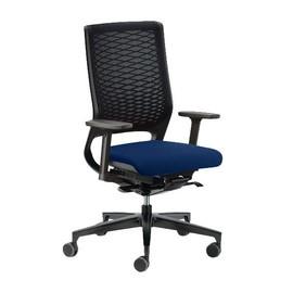 Drehstuhl Mera88 mit Armlehnen ohne Kopfstütze mit Netzrücken Farbe 0428-70 dunkelblau Klöber Produktbild