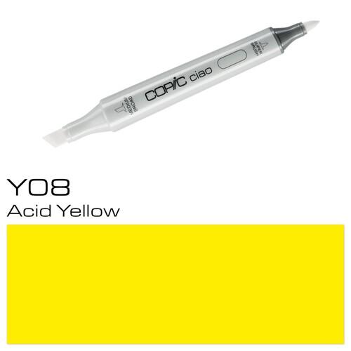 Copic Ciao Typ Y08 Rund- und Keilspitze acid yellow Holtz 22075192 Produktbild Additional View 1 L