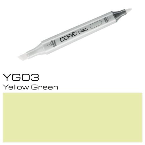 Copic Ciao Typ YG03 Rund- und Keilspitze yellow green Holtz 2207522 Produktbild Additional View 1 L