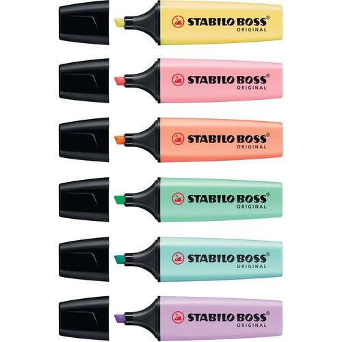 Textmarker Boss Original 70 Pastel 2-5mm Keilspitze rosiges rouge Stabilo 70/129 Produktbild Additional View 4 L