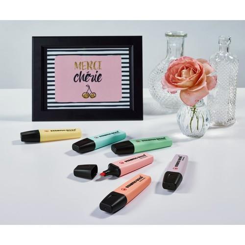 Textmarker Boss Original 70 Pastel 2-5mm Keilspitze rosiges rouge Stabilo 70/129 Produktbild Additional View 2 L