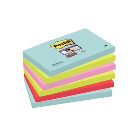 Haftnotizen Post-it Super Sticky Notes 127x76mm Miami Papier 3M 6556SMI (PACK=6x90 BLATT) Produktbild