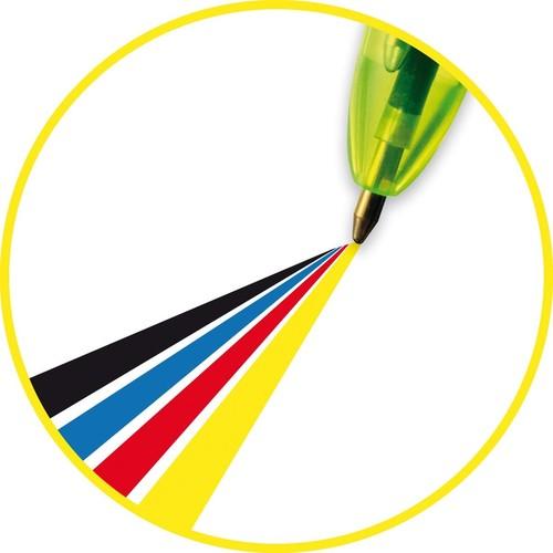 Vierfarb-Kugelschreiber 4 Colours 0,4mm/neongelb 0,6mm BIC 933948 Produktbild Additional View 4 L