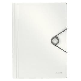 Eckspanner Solid mit 3 Klappen A4 für 150Blatt weiß PP Leitz 4563-10-01 Produktbild