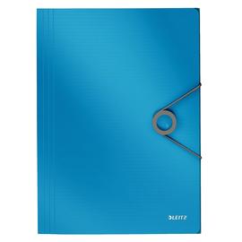 Eckspanner Solid mit 3 Klappen A4 für 150Blatt hellblau PP Leitz 4563-10-30 Produktbild