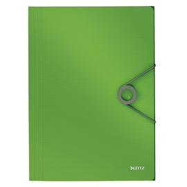 Eckspanner Solid mit 3 Klappen A4 für 150Blatt hellgrün PP Leitz 4563-10-50 Produktbild