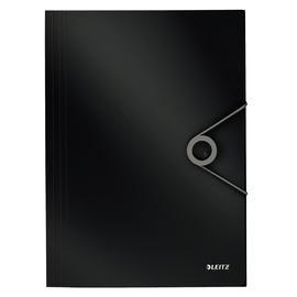 Eckspanner Solid mit 3 Klappen A4 für 150Blatt schwarz PP Leitz 4563-10-95 Produktbild