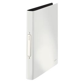 Ringbuch Solid A4 2Ringe Ringe-Ø25mm bis 190Blatt weiß PP Leitz 4566-10-01 Produktbild