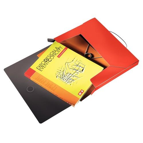 Ablagebox Solid für A4 330x250x37mm für 250Blatt hellrot PP Leitz 4568-10-20 Produktbild Additional View 1 L