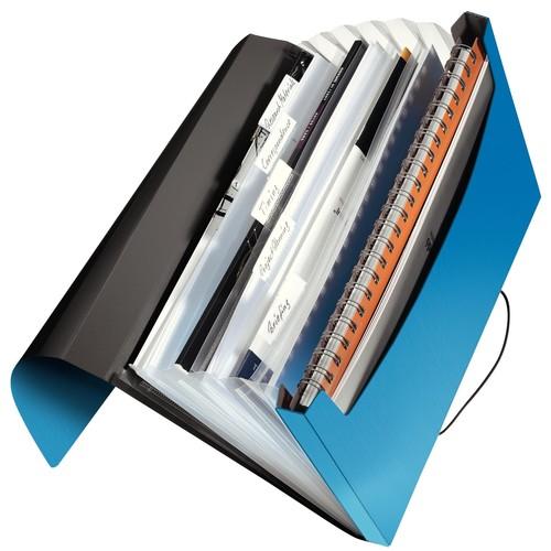 Projektmappe Solid mit Gummizug A4 mit 6 Fächern hellblau PP Leitz 4579-10-30 Produktbild Additional View 1 L