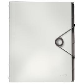 Ordnungsmappe Bebop mit Gummizug A4 mit 6 Fächern und 3 Klappen weiß PP Leitz 4569-10-01 Produktbild