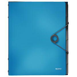 Ordnungsmappe Bebop mit Gummizug A4 mit 6 Fächern und 3 Klappen hellblau PP Leitz 4569-10-30 Produktbild