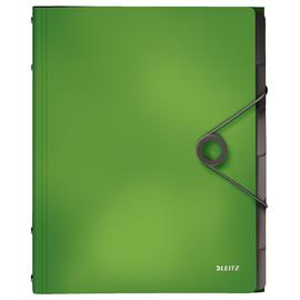 Ordnungsmappe Bebop mit Gummizug A4 mit 6 Fächern und 3 Klappen hellgrün PP Leitz 4569-10-50 Produktbild