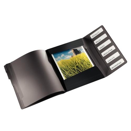 Ordnungsmappe Bebop mit Gummizug A4 mit 6 Fächern und 3 Klappen schwarz PP Leitz 4569-10-95 Produktbild Additional View 1 L