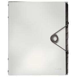 Ordnungsmappe Style mit Gummizug A4 mit 12 Fächern und 3 Klappen weiß PP Leitz 4570-10-01 Produktbild