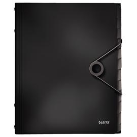 Ordnungsmappe Style mit Gummizug A4 mit 12 Fächern und 3 Klappen schwarz PP Leitz 4570-10-95 Produktbild