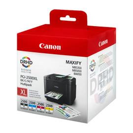 Tintenpatronen PGI-2500XL Multipack für Maxify MB5000 black+cyan+magenta+yellow 70,9ml + 3x19,3ml Canon 9254B004 (PACK=4 STÜCK) Produktbild