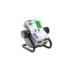 Visitenkarten Rollkartei Visifix mit Register für 400 Karten schwarz Durable 2481-01 Produktbild