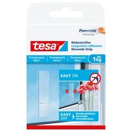 Powerstrips Klebestreifen bis 1 kg Haftkraft transparent Tesa 77733-00000-00 (PACK=8 STÜCK) Produktbild